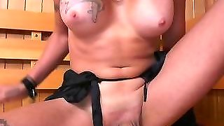 Busty Transgendered Babe Gets Dicksucked