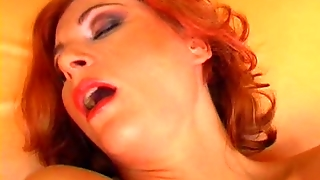 Red Head With Dildo Anal