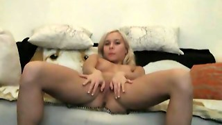 Solo Blonde With Perky Tits