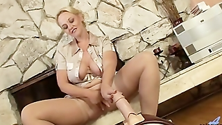 Mature, Cougar, Sex Machine, Anilos, Stockings, Shaved Pussy, Big Ass, Blonde, Sybian, Fucking Machine, Big Butts