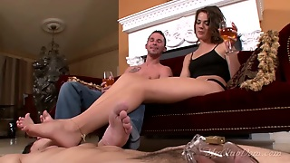 Submissive Man Licks Couples Feet