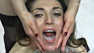 Nona Swallows 99 Huge Mouthful Cumshots