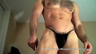Cumming Hairy Thick Muscle Cock!