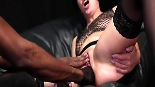Roughly Fist Fucked By Her Ebony Bf Till She Squirts
