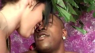 Giant Black Gives A Creampie