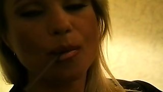 Mature Wench Enjoying A Cigar And Deepthroating Her Guy