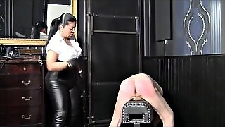 German Mistress, Hard Caning And Strapping Fm