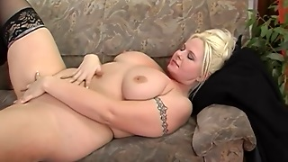 European Blonde With Big Tits Takes It The...