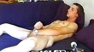 Young Adam Strokes Off And Cums Big