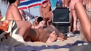 Horny Mature Nudists At A Beach