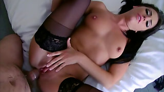Brunette In Stockings In A Hd Porn Video