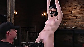Slut Gets Tied Up And Molested With His Fingers