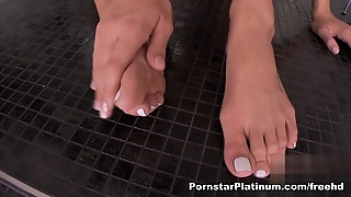 Amy Brooke In Footsie Frenzy