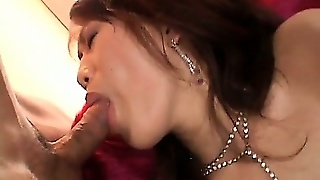 Cock Sucking Jap Tramp In Stockings Pussy Played With Sex Toys