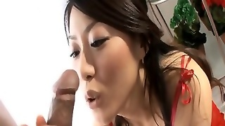 Asian In Stockings  Hot Blowjob