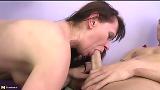 Bent Over Mature Sucks Dick And Gets Fucked