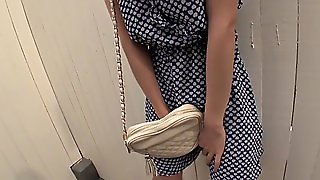 Asian Gf Nami Honda Sucks Dick And Swallows In Public Restroom