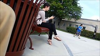 Great Crossed Legs Candid