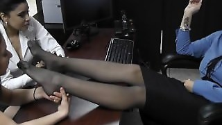 Megan Jones Pantyhose Feet Worship