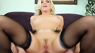 Blonde, Blowjob, Hardcore, Stockings