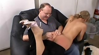 Ariel Summers Spanked By Oldman