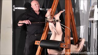 Feet Whipping And Amateur Slave Bondage Of Punished Bdsm Submissive Beauvoir