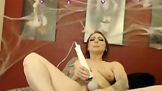 Blonde Cam Show With A Dildo, Hairy Pussy,