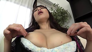Japanese Solo Mom Masturbating With A Dildo And Making Herself Cum