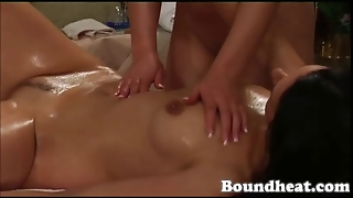 Two Beautiful Girls Oil Massage Each Other