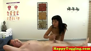 Hiddencam Massage With Asian Tugging Client