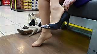 Feet In Nylon - Video 13
