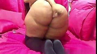 Whale Of An Ass On A Webcam And A Masturbation