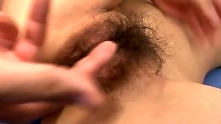 Very Hairy Asian Pussy Gets Fucked