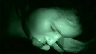 Sleepy Wife Of My Friend Gives Me Head On Night Vision Camera