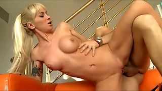 Dirty Blonde Babe Loves To Swallow Cum