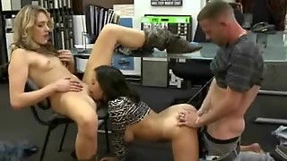 Brunette Eats Pussy And Doggystyled In Money Talks Stunt