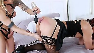 Double Anal With Nina Lawless