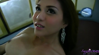 Shemale Pornstar Sapphire Young Strokin