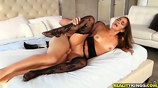 Brunette Sean Lawless Gets Covered In Cock
