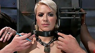 Blonde Babe Fucked In Bdsm