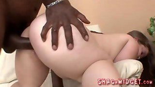 Slutty Midget Interracial Shagged
