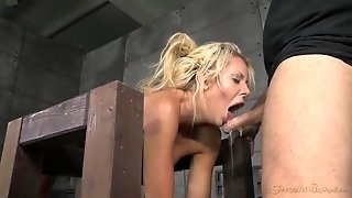 Milf Bent Over In Bondage And Fucked By Two Guys