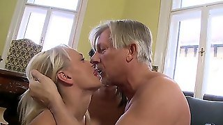 Christoph Clark Is Rich Businessman! He Is Tired Of Mature Vaginas And Called His Young And Slutty Secretaries Blonde Ivana Sugar And Brunette Vanessa Praud To Fuck Them With His Experienced Dick!