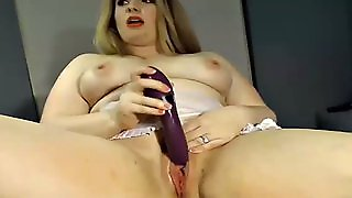 Very Young Curvy Bbw Teen With Huge Dildo - She Is Live At Watchbbwcams.com