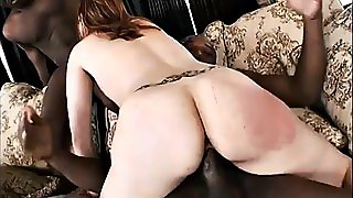 Redhead Impregnated By Black Midget And His Black Friend