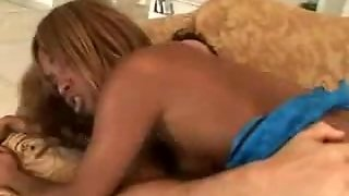 Ebony Tramp Enjoys Dp Gangbanging And Facials