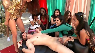 Femdom Babe Party Outside