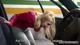 Beautiful Eurobabe Ellen Fucked In The Parking Lot For Money