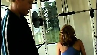 Buxom Mature Shemale Getting Fucked In The Ass By Two Guys In The Gym