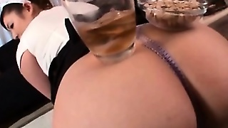 Japanese Sexy Maid Gets Ass Hole Teased By Her Boss